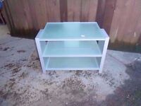 Frosted Glass Tv Stand Delivery Available £8
