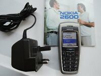 Basic Nokia Mobile Phone. Unlocked. Charger & Manual