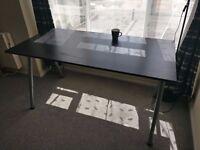 Dining Table IKEA Galant Black, Adjustable Height