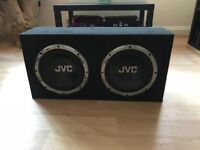 "10"" JVC subwoofers in box"