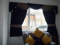 very nice blue velvert curtains