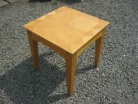 MODERN SQUARE BEECH OCCASIONAL / COFFEE TABLE. LEGS DETACHABLE. VIEWING/DELIVERY AVAILABLE