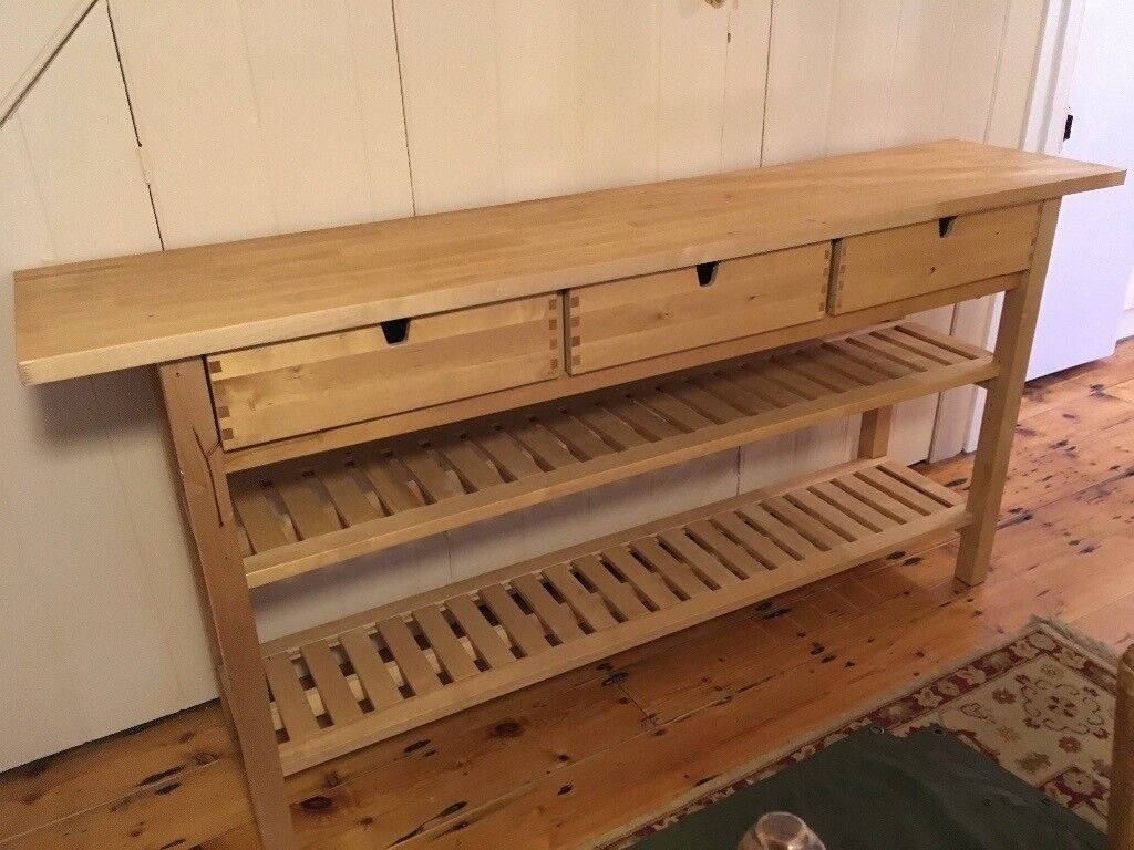 Ikea Birch Credenza : Lovely ikea sideboard console table birch colour in bedminster