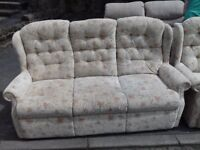 Very Comfy 3 Seater Sofa and Chairs Very Good like New condition FREE delivery
