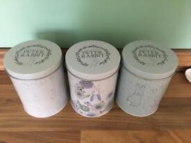 Peter Rabbit storage tins (set of 3)