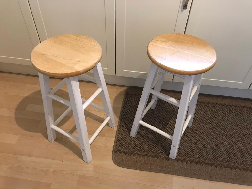 Pair of IKEA kitchen bar stools good used condition 60cm ...