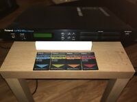 Roland U-110 PCM Sound Module (with 4 SOUND CARDS)