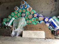 Glass wool various thickness (70 rolls in total )