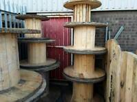 Cable drums used various sizes approx 25 to choose from