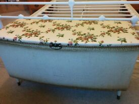 Vintage chest blanket or toy storage