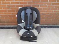 Graco black and silver car seat