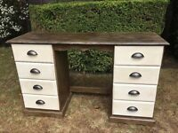 Gorgeous hand painted solid wood dressing table or desk