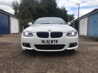 BMW 320i Coupe - M-sport - White/Red leather Excellent condition - low miles