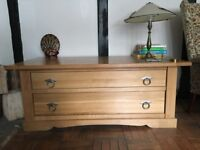 John Lewis two drawer oak chest.