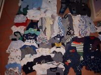 Bundle Of Boys Baby Clothes 0-6 months