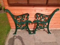 selection cast iron ends for chair/table bench--wrought iron fence/window panels x 6