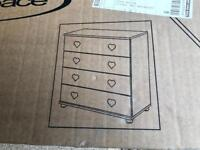 Kids chest of draws, New, never constructed!