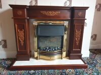Electric surround fire
