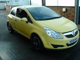 2008 08 VAUXHALL CORSA 1.0 LIFE 3 DOOR ** BRIGHT YELLOW ** MOT NOVEMBER 2018 **