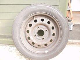 165x65x13 tyre on ford ka/fiesta rim