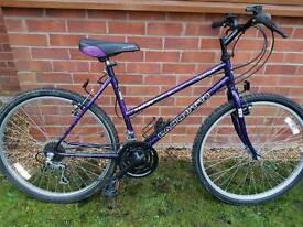 Ladies large frame mountain bike.
