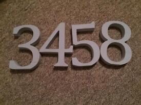 Grey wooden numbers