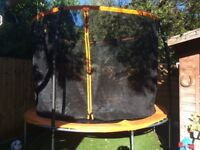 Trampoline 10ft, with folding safety net - only 4 months old, excellent condition
