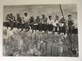 "Plastic covered print "" Lunch Atop A Skyscraper"" 1932"