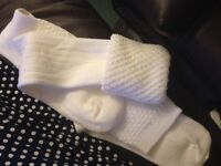 WHITE Bagpipe SOCKS (hose) NEW free delivery