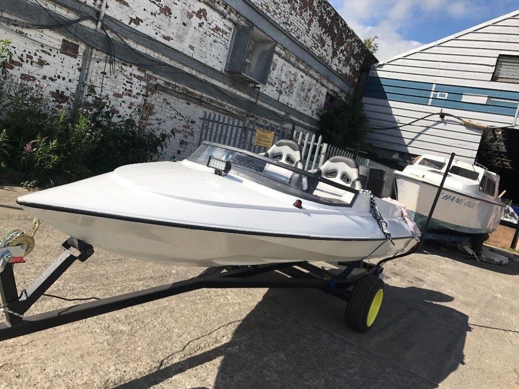 14ft sims super v speedboat 60/70hp evinrude