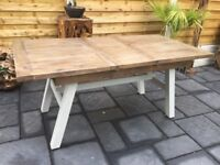 Hampton Reclaimed Timber Extending Dining Table. New / Unused