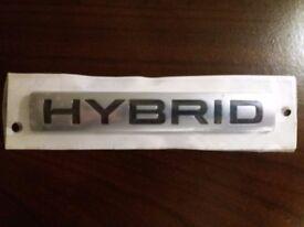 Hybrid Back Badge