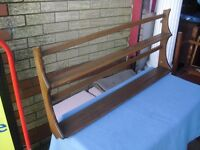 Superb Condition Elm Genuine Ercol Golden Dawn Hanging Plate Rack Shelves