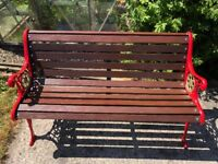 fully refurbished high quality cast iron garden bench