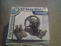 Playstation 2 PS2 V3 FX Racing Wheel And Pedals