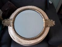 A Vintage Ornate Gold coloured Wall Mirror