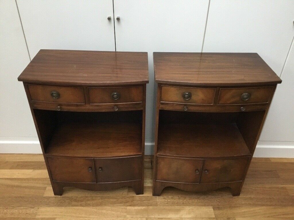 Pair of small Regency style cabinets/ bedside tables/ sofa tables