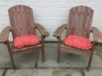 2 kids wooden chairs