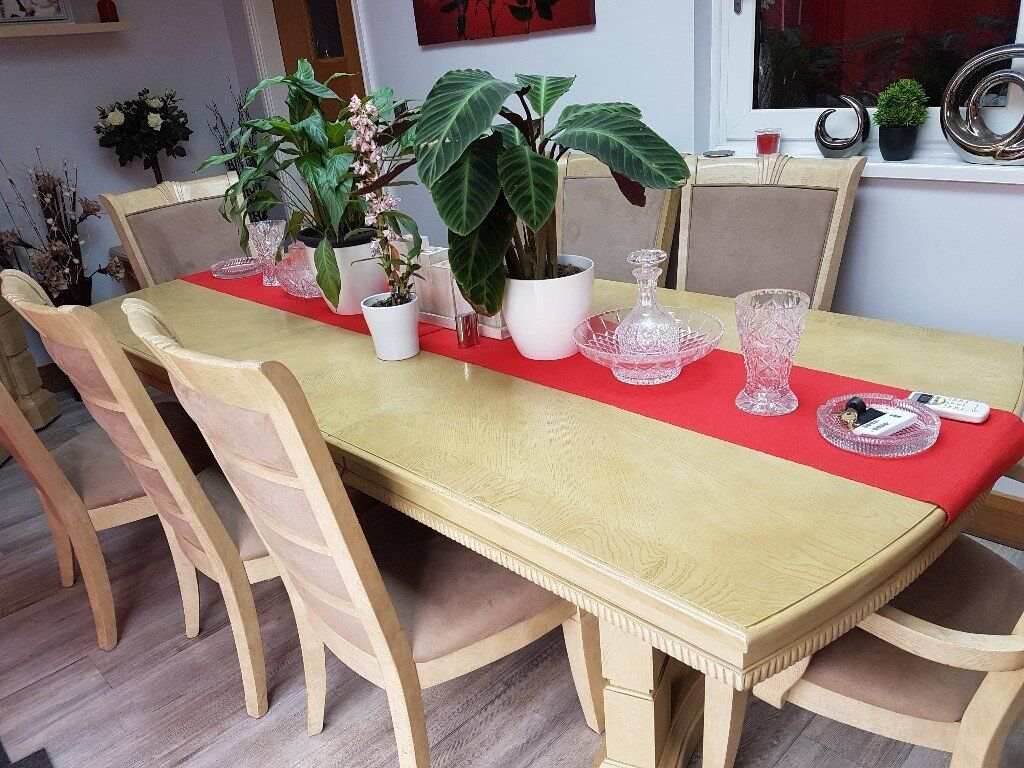Dining Table 8 Chairs Called Brunsick By Furniture Village
