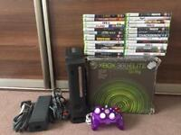Xbox 360 console and 26 games