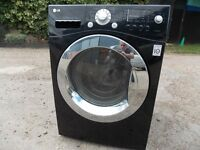 LG washer dryer 9kg load in glossy black with warranty