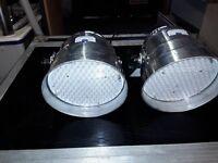 Two DMX controlled LED lamp assemblies PAR 56