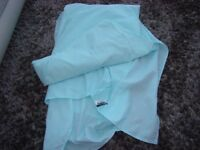 Dunelm Single Box pleat Valance in Turquoise/Mint. VGC. £3. Torquay.