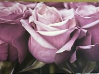 Large purple flower canvas