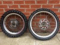 "MX wheels 19"" Front 16"" Rear RM YZ KX CR"