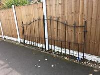wrought iron driveway gates / double gates / arched arrow head gates £90