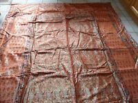 Bed cover/duvet/throw. New. Unused. Indian hand made silk. Pillow cases and Cushions