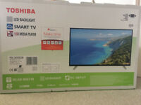 NEW Toshiba LED 49 Inch Smart TV FOR SALE from a smoke&pet free house