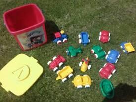 Vikingtoys Bucket of Sand Vehicles (cars, train, boat, helic
