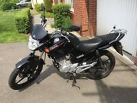 Yamaha YBR 125cc excellant condition in black, garaged everyday since new